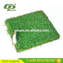 Colored green plastic grass carpet for kitchen