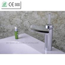 Single Level Handle Big Spout Bathroom Waterfall Basin Faucet (Q3001)