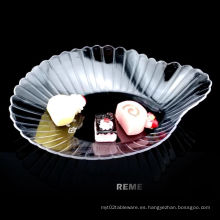 Vajilla Plato de plástico Desechable Plato con conchas de peregrino