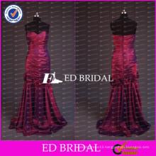 ED Bridal Elegant Sweetheart Mermaid Wine Red Taffeta Long Mother Of The Bride Dress For Lady 2017