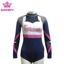 Customized glitter rhinestone cheerleading uniforms