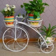 Hot Sale 3 niveaux support de pot de fleur de vélo en fer forgé