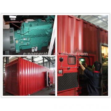 1.5 mw diesel generator with soundproof container powered by cummins
