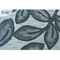 2016 жаккарда Синеля Драпирования Синеля ткань с листьями