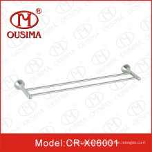 Wall Mounted Stainless Steel Double Square Shower Room Towel Bar