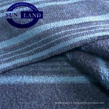 100% poliéster raya hilo teñido polar tela para tela de moda de invierno