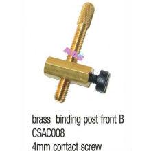 Poste de atado de cobre amarillo delantero B para la máquina / el arma del tatuaje