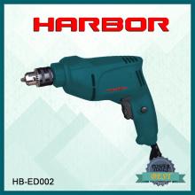 Hb-ED001 Puerto 2016 caliente vendiendo pequeño taladro eléctrico máquina de perforación eléctrica