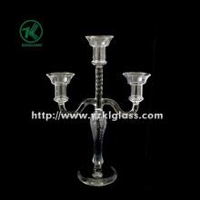 Porte-bougies en verre pour la décoration de fête avec trois postes (10 * 22.5 * 33.5)