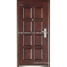 Steel Wood Exterior Door (JKD-237) Strong Steel Armored Door For High Security