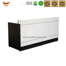 Popular Black&White Office Wooden Reception Desk Front Desk (HY-Q31)