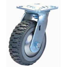 Roulette pivotante pivotante PU (gris)