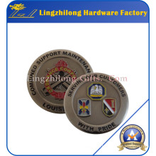 Antique Finish Brass Navy Pride Coin
