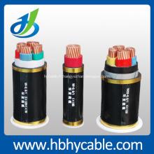 Câble d'alimentation blindé isolé par câble d'alimentation 10KV XLPE / PVC