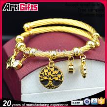 Pulseras importadas de la importación de China pulseras plateadas encanto barato a granel del encanto de la manera de la mujer