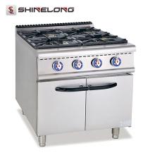 Gama de gas caliente del acero inoxidable de la venta con las estufas de gas comerciales de la cocina de 4 hornillas que cocinan rápidamente la comida