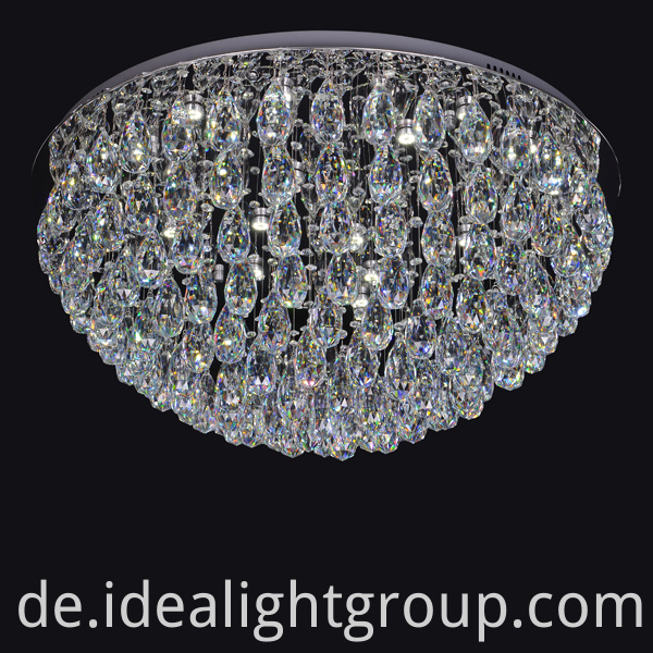 crystal drop ceiling light
