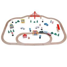 70pcs Tunnel Spiel-Satz-Kind-hölzernes Eisenbahn-Spielzeug