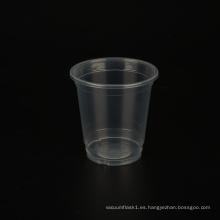 Vasos de plástico de té con leche de 8 oz / 240 ml con tapa impresa