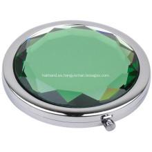 Espejo de bolsillo circular de cristal promocional