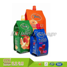 Strong Sealing Leakage Proof 2L, 1L, 500ML Custom Laminated Material Beverage Liquid Pouch Bag with Spout
