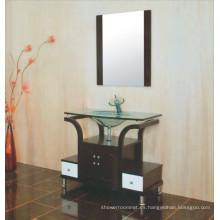 Gabinete de baño de lavabo de vidrio (B-609)