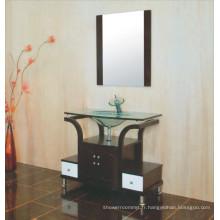 Cabinet de salle de bains en verre (B-609)