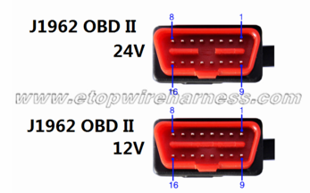 J1962 24V OBD connector