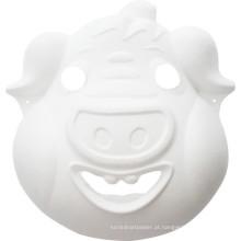 crianças de porco artesanato DIY pintando máscara de festa animal