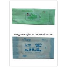 Saco de tecido molhado / embalagem de tecidos / saco de tecido de auto-rótulo