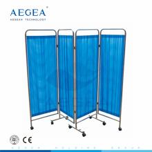 AG-SC001 3-pliable en acier inoxydable hôpital médical mobile écran