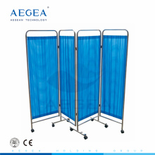 AG-SC001 3-folding stainless steel medical movable hospital screen