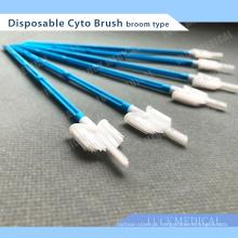 Forma de vassoura tipo Cyto Brush descartável