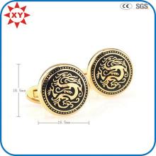 Плакировка золота Дракон форма Запонки для подарки