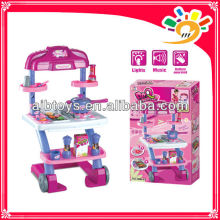 Plastic Toy kitchen Play Set , Kitchen Cooking Set Toy,Kids Play Pretend Kitchen Set With Music And Light