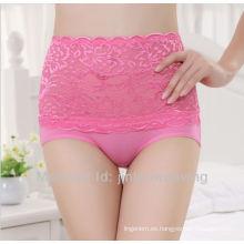 Ropa interior de las señoras de la cintura alta cordón atractivo 5130