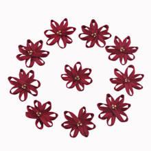 Flor de la cinta del satén del vino