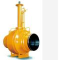 worm gear turbine drive t-30 fully welded ball valve