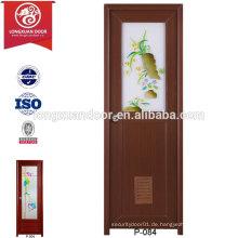 PVC-Toilette Badezimmer-Tür mit Glas