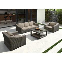 Modern Aluminium PE Rattan Sofe Set Furniture
