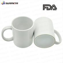 Sunmeta factory wholesale price 11 oz white ceramic mug for sublimation transfer