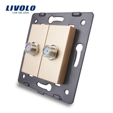 Manufacture Livolo Electric Wall Socket Accessory The Base of 2 Gang Satellite Outlet VL-C7-2ST-13