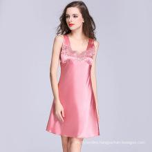 Customize Lace Trim Satin Pajamas Shorts Suit Cami Women's Sleepwear