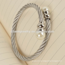 Productos más populares Fashion Bead Stainless Steel Bracelet Jewelry GSL003