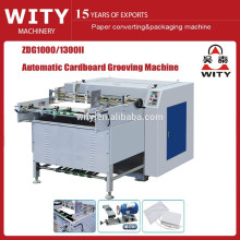 ZDG1000 / 1300II máquina automática do sulco do Paperboard v