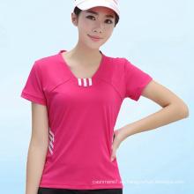 Camiseta para mujer OEM Dry Fit Camiseta deportiva para deporte
