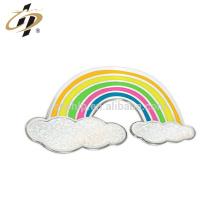 Shuanghua promotional custom metal rainbow shape metal lapel pins