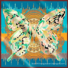 100 silk twill scarves for butterfly printing