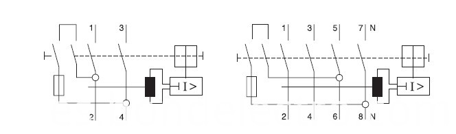 operation principle figure for JXL1 RCCB
