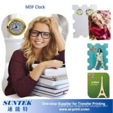 26*19cm Sublimation Blank MDF Clock Sublimation Wall Clock